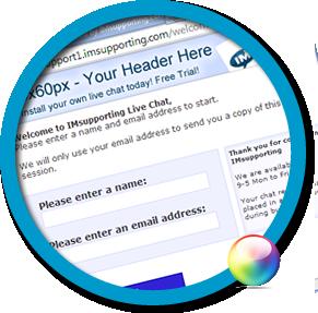 Customization live chat screenshot