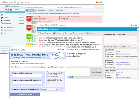 IMsupporting Live chat Software Screenshot